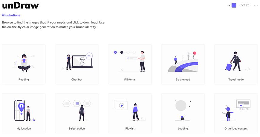免费可商用!6个超实用插画素材网站!