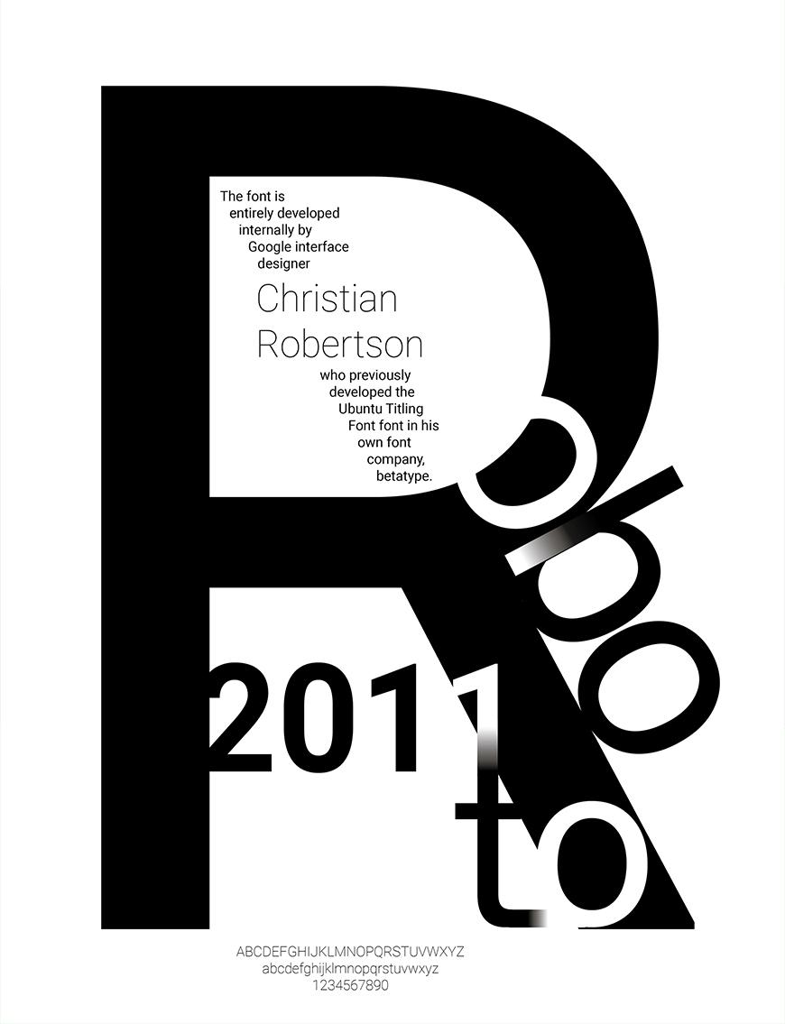 免费字体下载!一款现代百搭的无衬线英文字体—Roboto