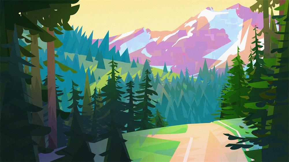 用色说话!16款治愈系列光影景观插图