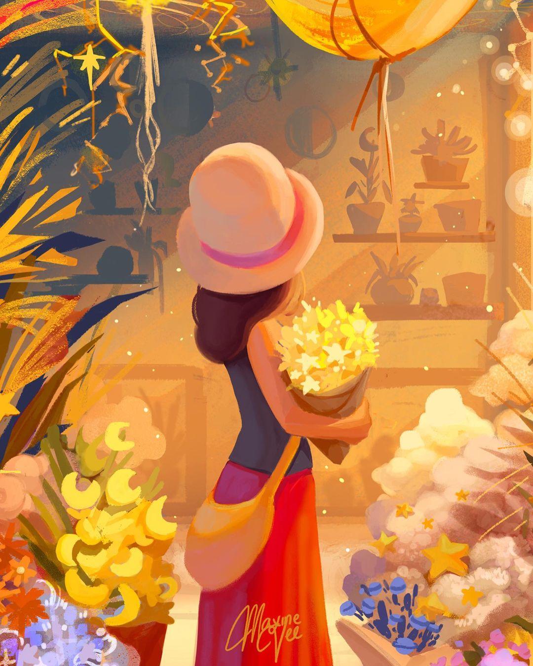 清新浪漫!12款质感十足的迪士尼人物插画