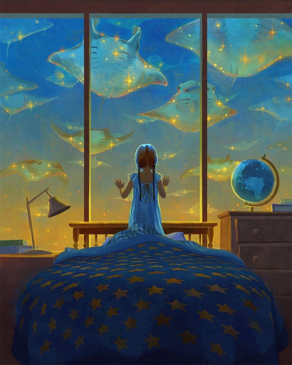 9款梦幻唯美的童话插图