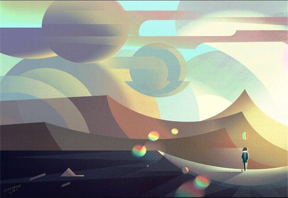 12款氛围感满满的扁平插画