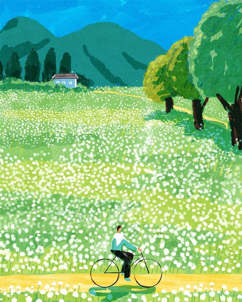 温馨的生活日常!10款春夏季节场景插画