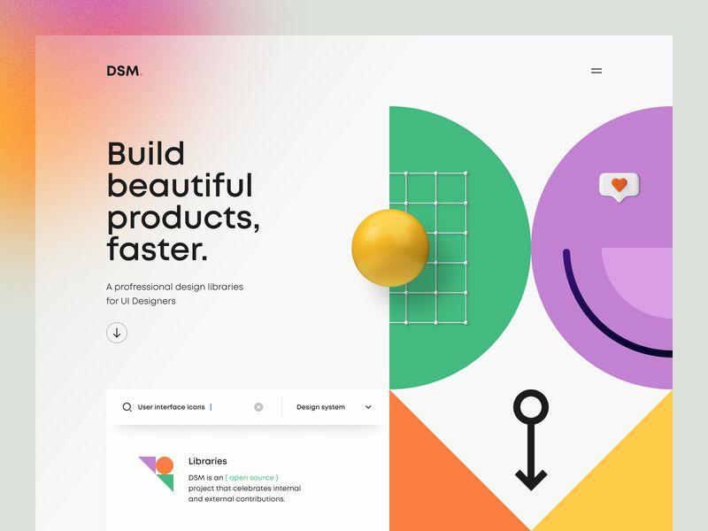 9组几何形状元素在网页设计中的应用