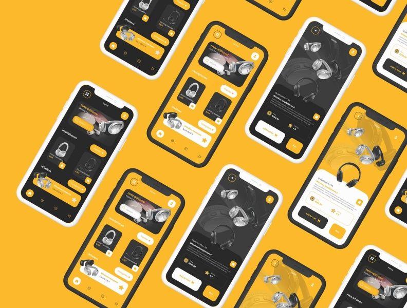 明亮抢眼!12组黄色色彩运用APP界面设计