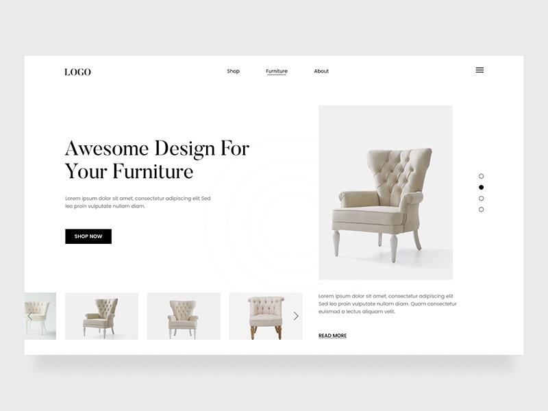 12组家具网页设计