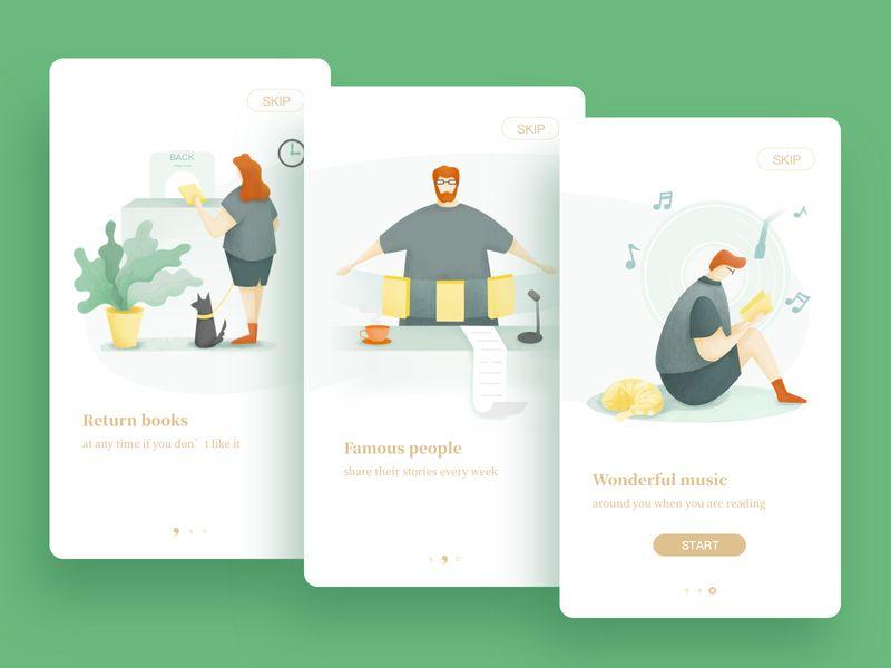 12组APP引导页界面设计灵感