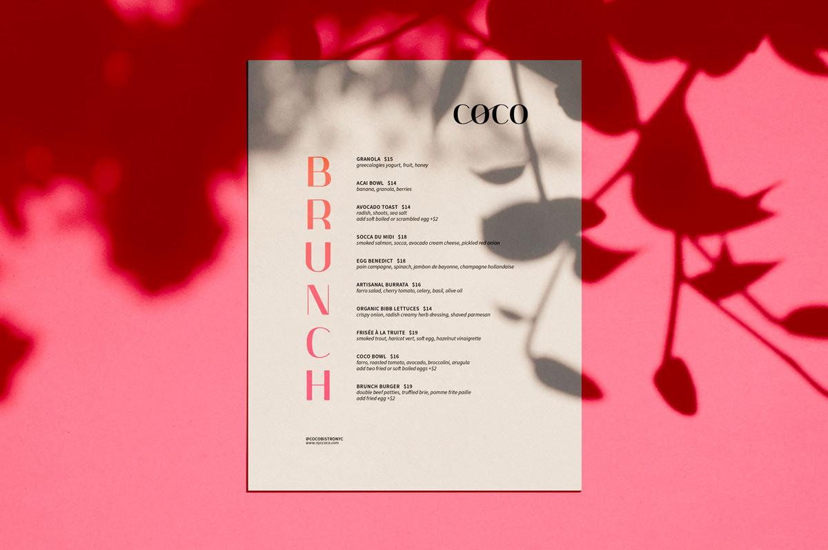 年轻粉色!法式餐厅品牌VI设计