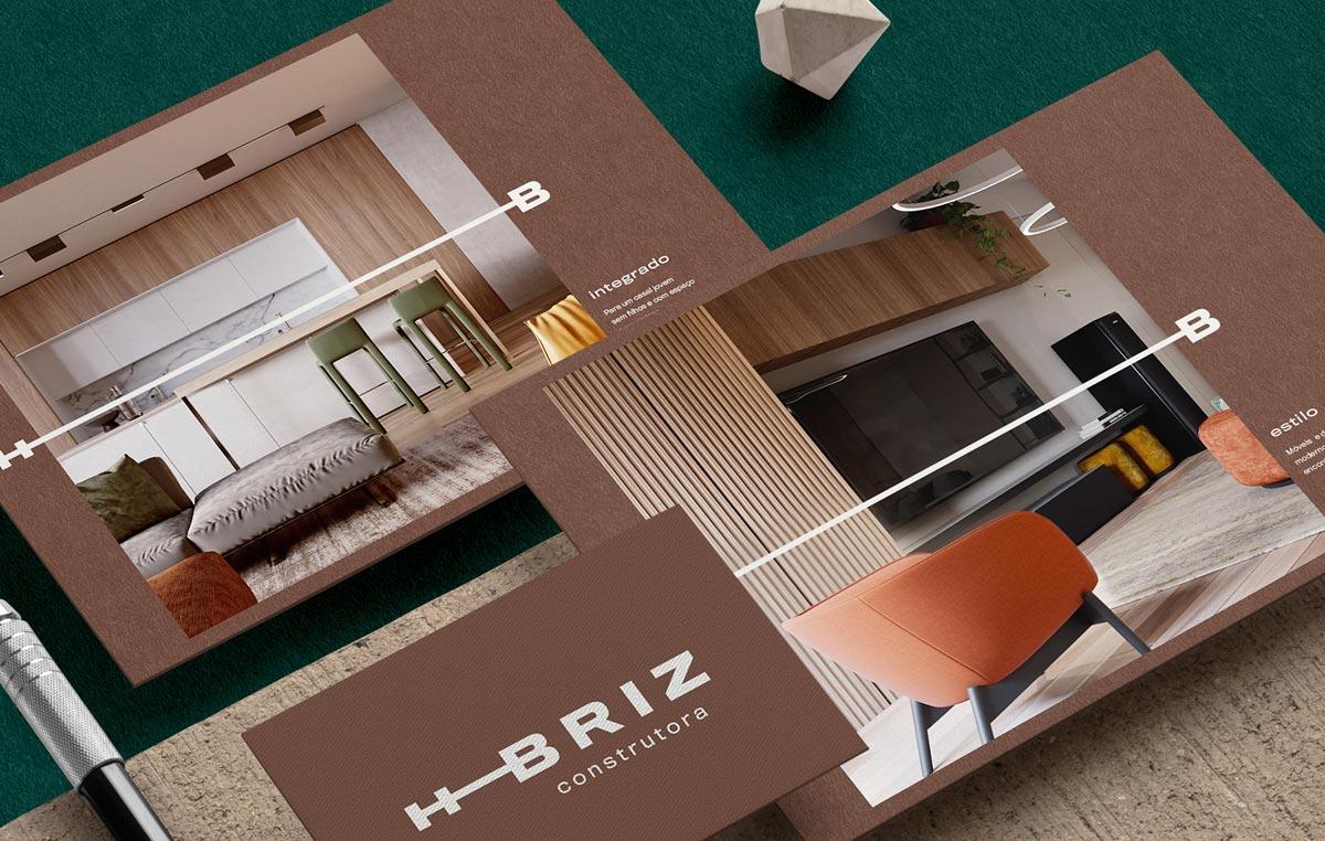 字母灵感!建筑公司品牌VI设计