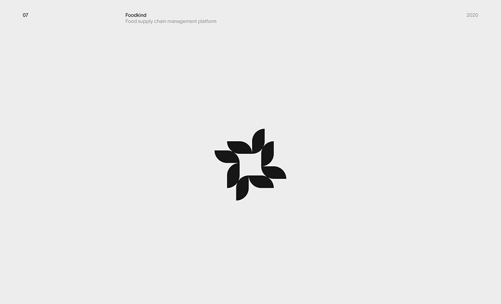 现代流行!8组极简单色Logo设计