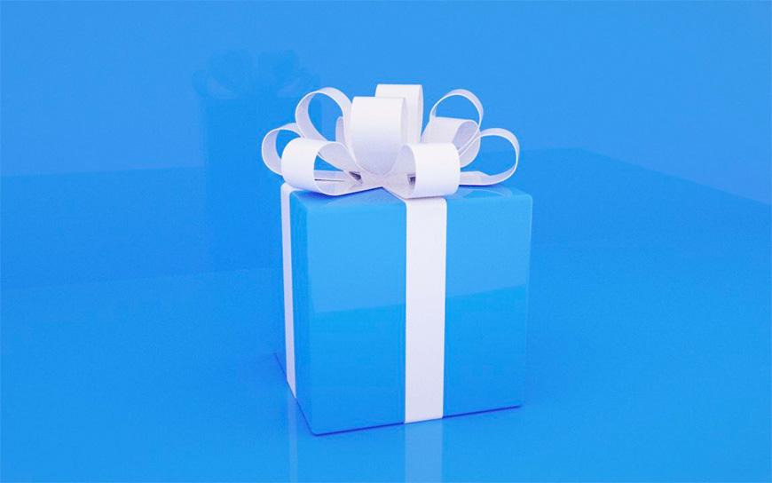 C4D教程!教你制作丝带包装礼物!