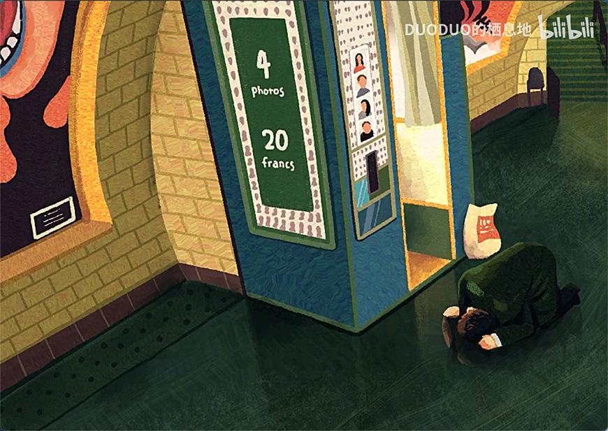 Procreate速剪!画一个地铁站照相亭遇见的怪咖