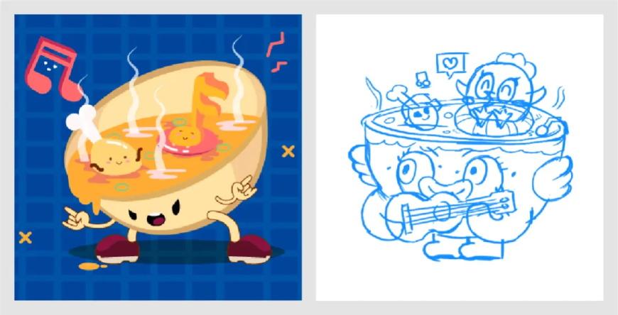 设计思路教程!如何优化插画作品集封面?