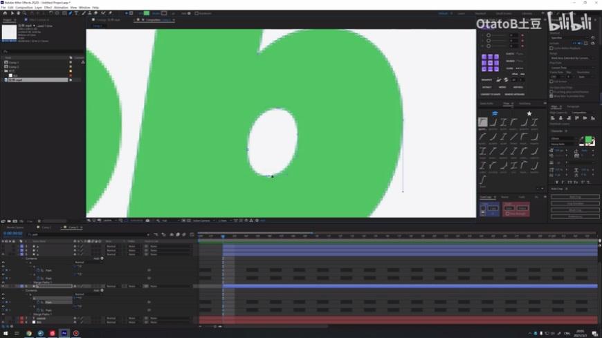 AE教程!来做一个图形拉伸的小动画(上)