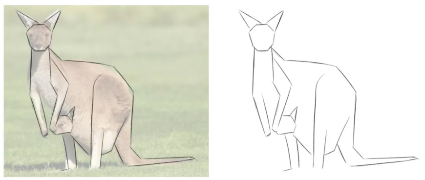 手绘教程!教你绘制几何造型风插画(附专用笔刷)