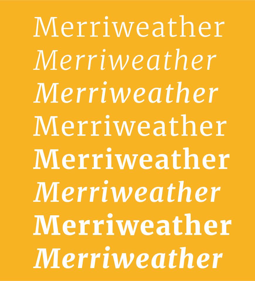免费字体下载!一款端庄雅致5种字重的英文字体—Merriweather