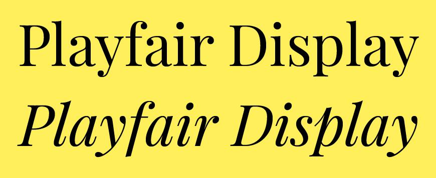 免费字体下载!一款细腻优雅12种样式的英文字体—Playfair Display