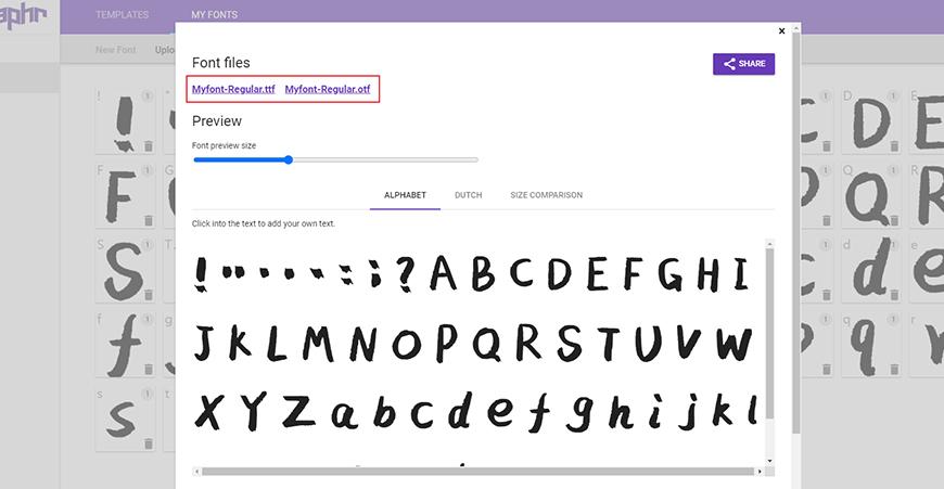 设计神器Calligraphr-免费在线生成矢量字体网站!
