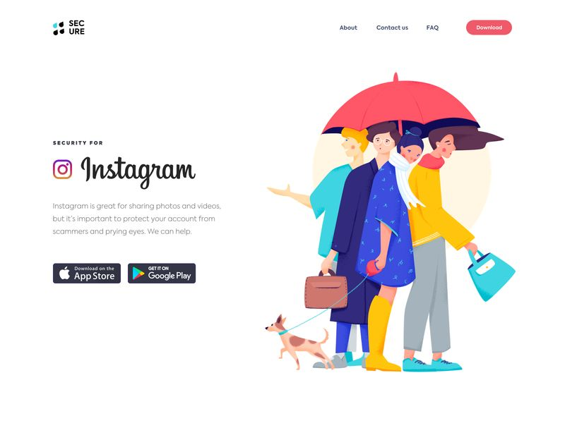色彩鲜艳!12组插画网页设计灵感