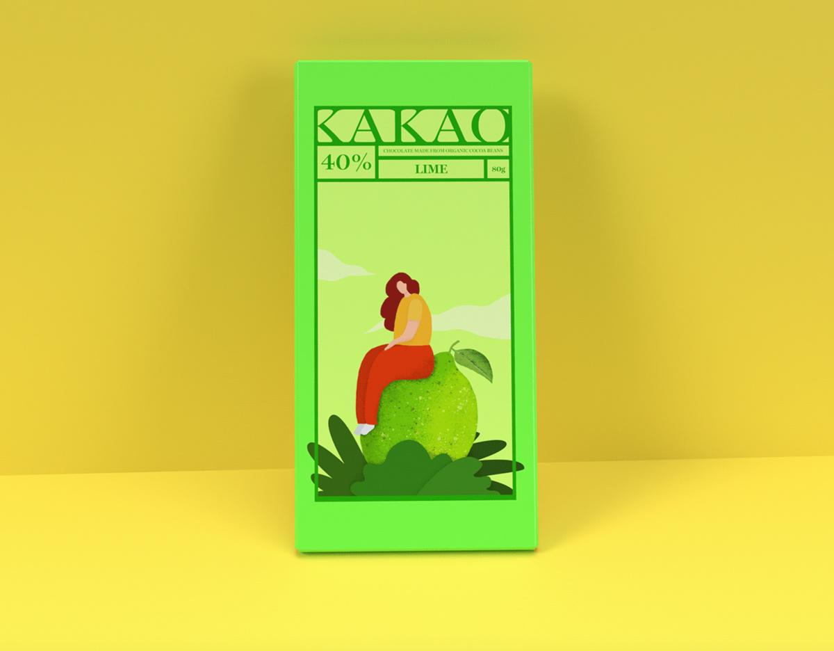 鲜艳色彩!巧克力包装设计