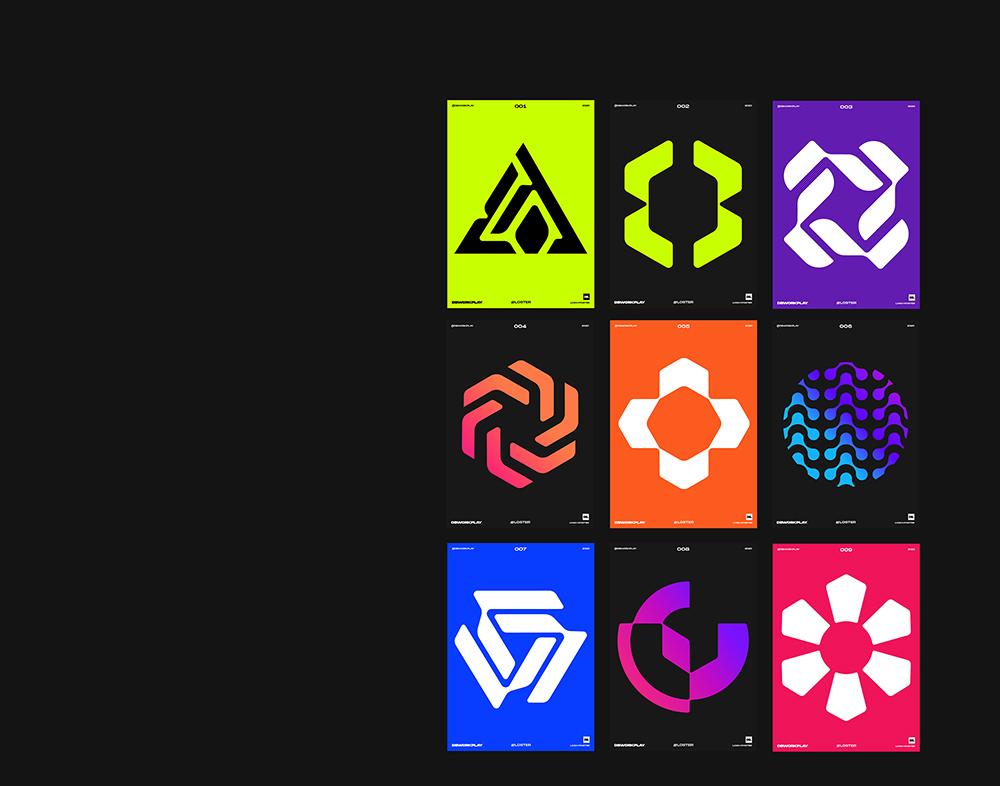 极简有趣!14款几何组合Logo设计