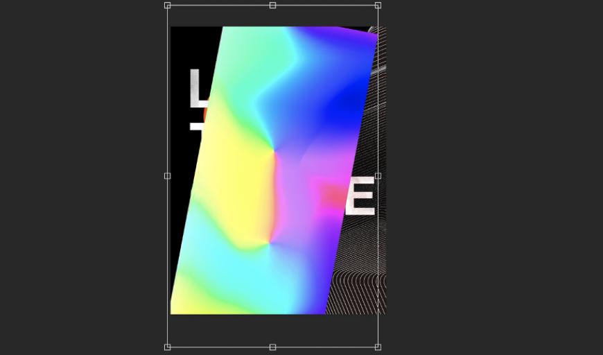 AI+PS教程!丝带穿插的文字视觉海报!