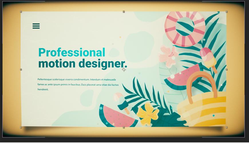 AE教程!教你制作动态网页插画!