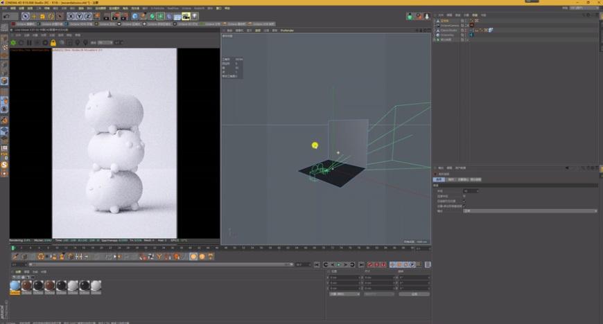 C4D教程!从0开始学会萌熊手机壁纸的建模与渲染(含工程文件下载)