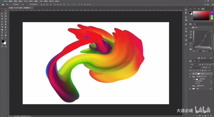 AI教程!混合工具加滤镜,5分钟做出真实的彩色油漆质感