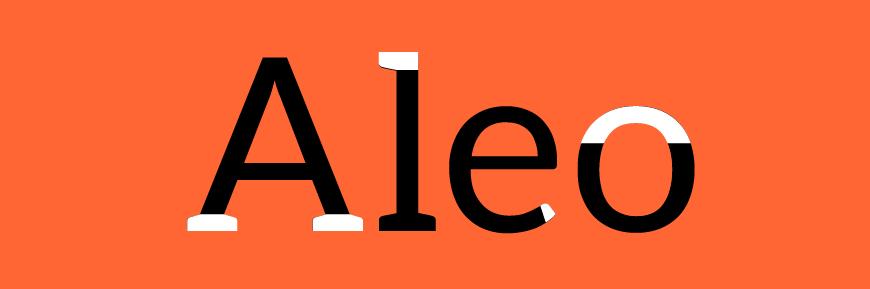 免费字体下载!一款现代风格节奏平衡的衬线英文字体—Aleo