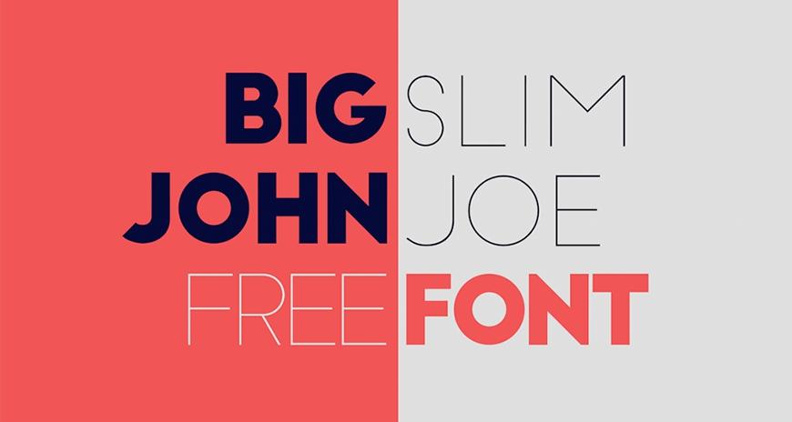 免费字体下载!一款拥有极致粗细的规则几何英文字体—Big John