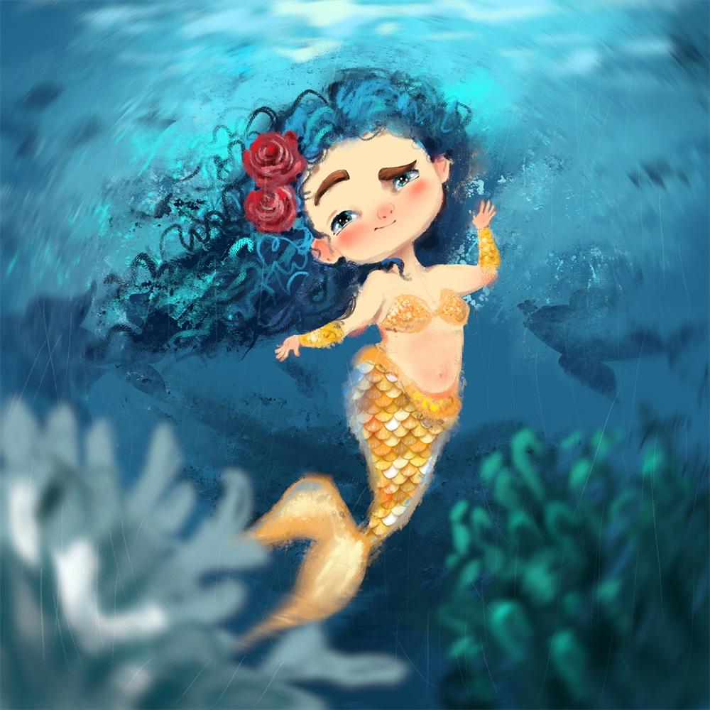 10张国际艺术挑战赛的美人鱼角色设计
