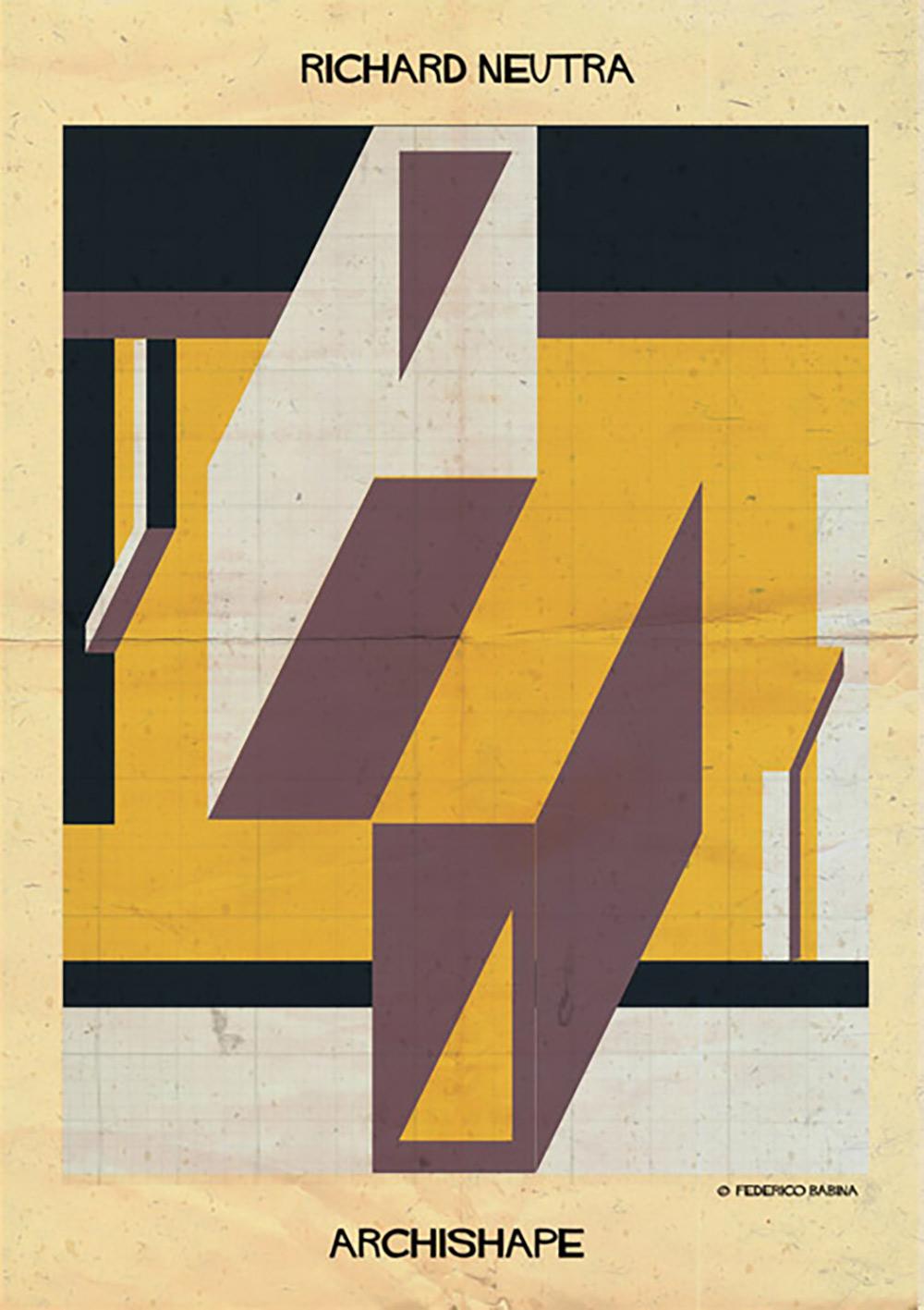 玩转形状!Federico Babina几何抽象系列海报