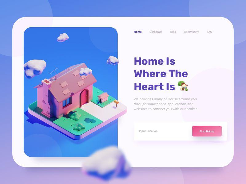 2.5D插画在网页设计中的应用