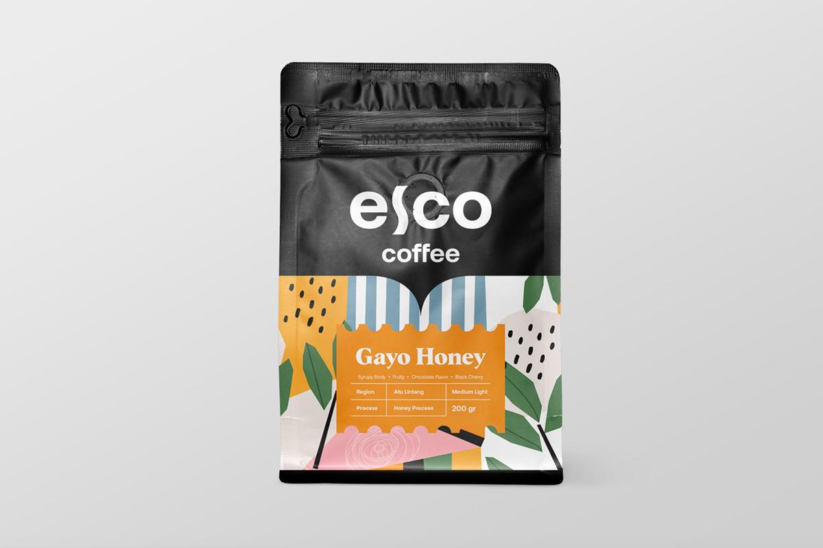 抽象清新!咖啡包装设计