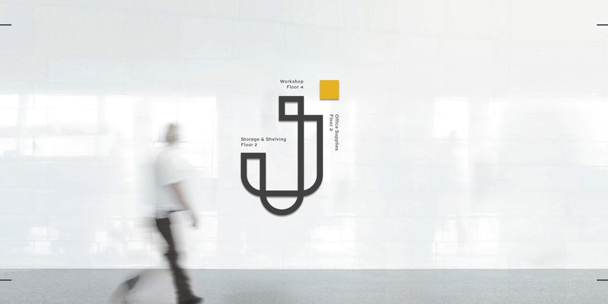 现代简约!仓储物流设备品牌VI设计