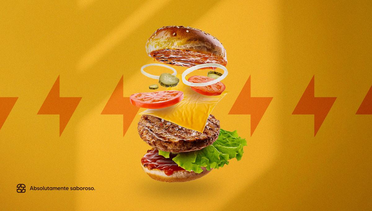 简洁鲜明!汉堡快餐品牌VI设计