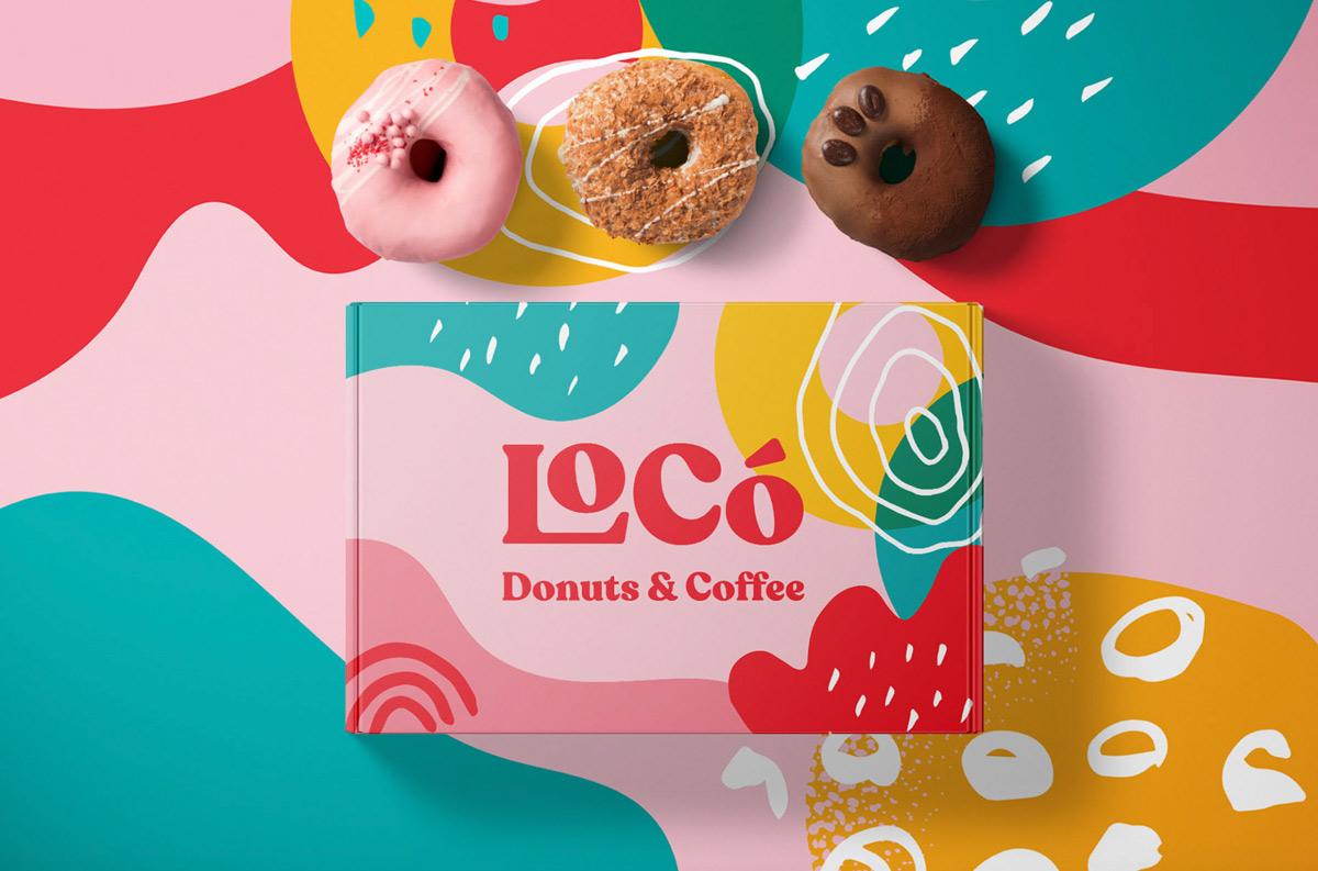 鲜艳可爱!甜甜圈咖啡品牌VI设计