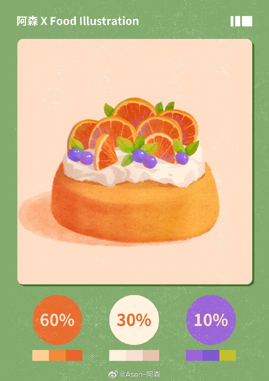 教你用6个步骤完成一幅美食小插画