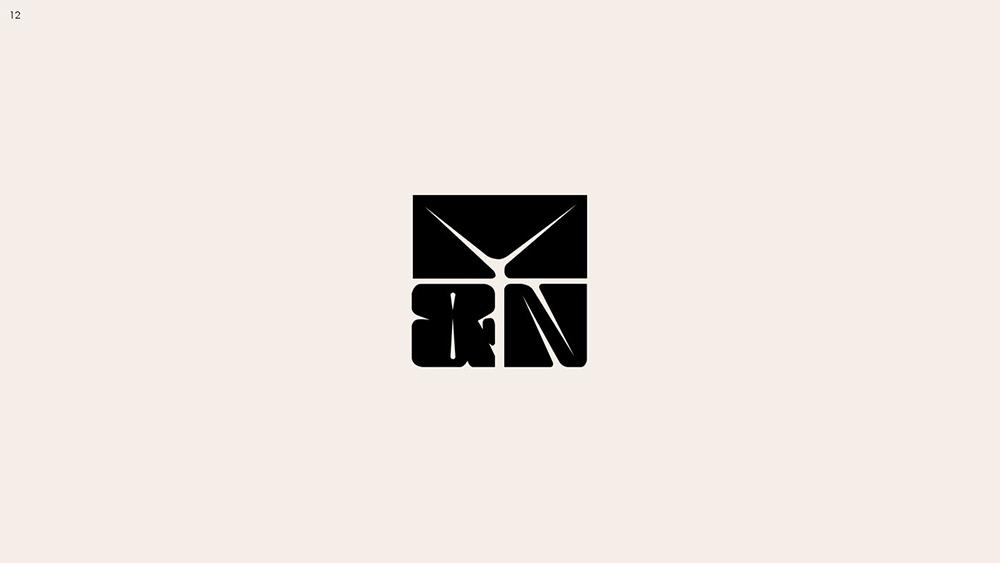 黑白极简!11款简约单色Logo设计