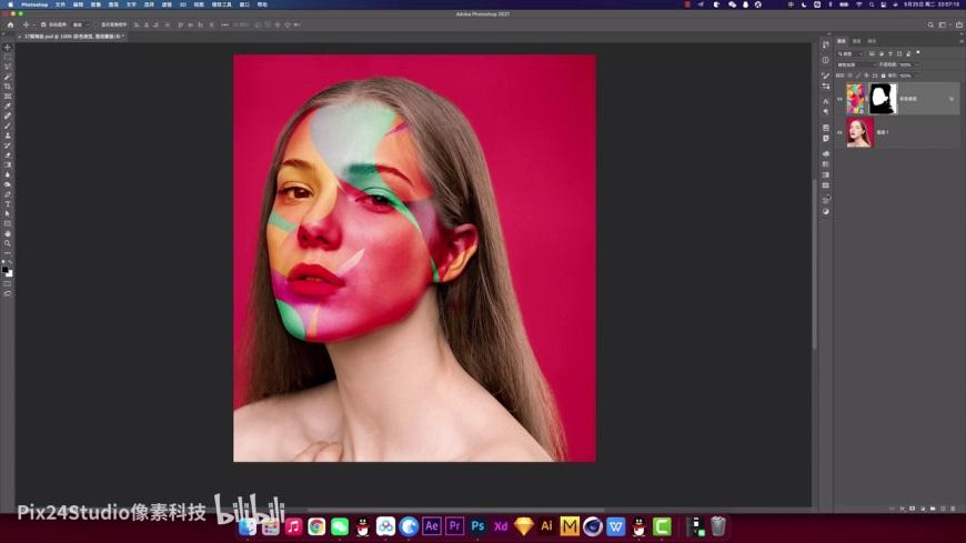 PS教程!教你用PS實現人體皮膚彩繪效果