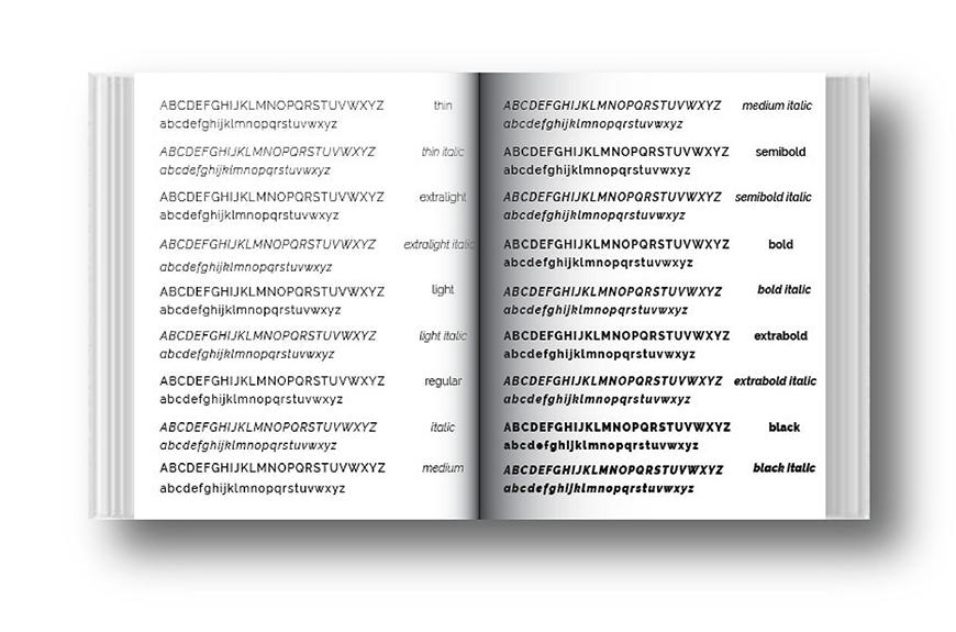 免费字体下载!一款端正清秀笔画纤细的英文字体—Raleway