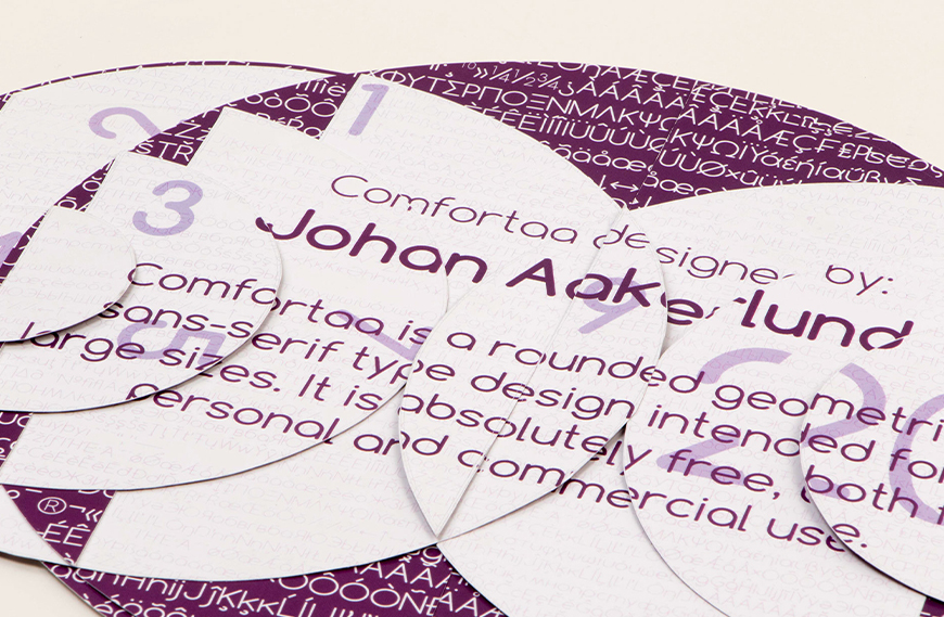 免费字体下载!一款温和可爱圆润独特的英文字体—Comfortaa