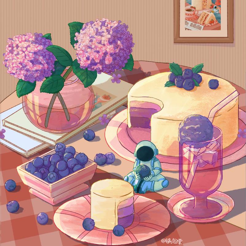 训练营公开课!葡萄蛋糕美食插画完整场景绘制
