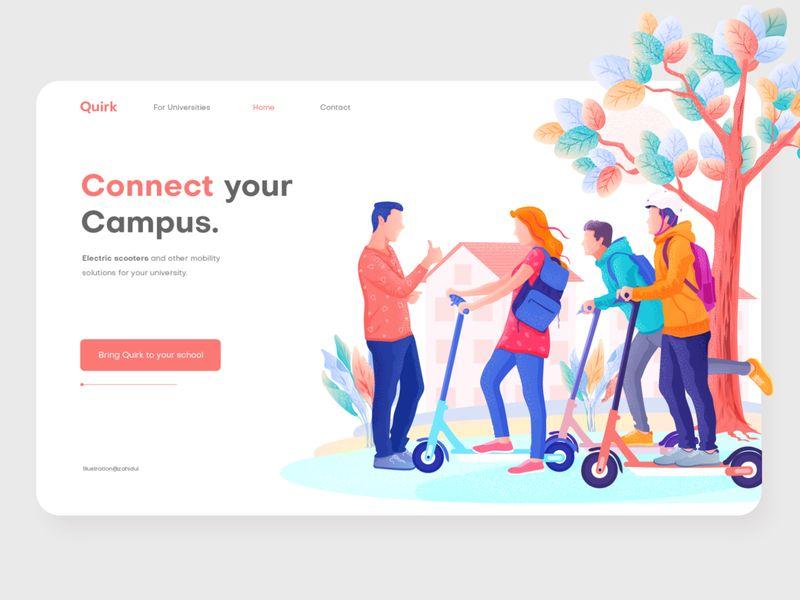 12组色彩鲜明的插画网页设计灵感