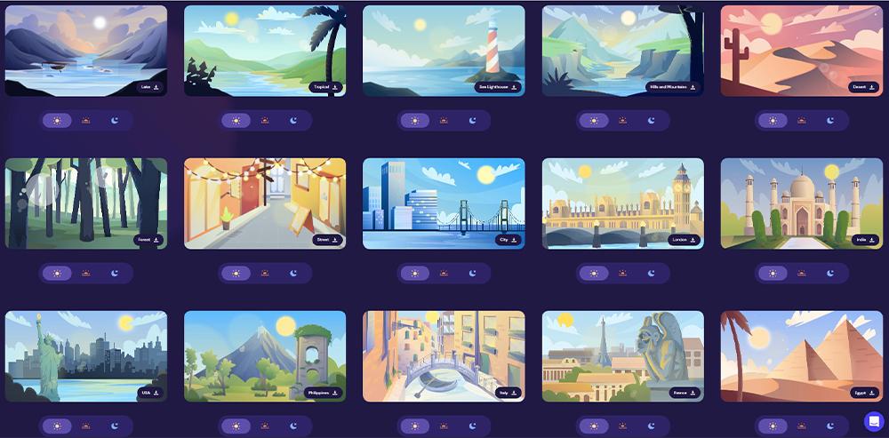 设计神器Pixelture!66款免费可商用的扁平动态插画包(5种源文件格式)