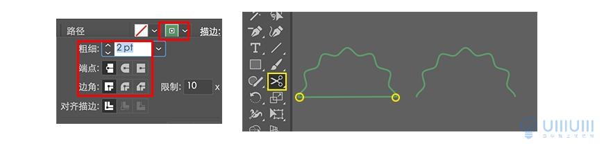 AI教程!又学会一种新风格!几何线条风美食图标临摹过程拆解