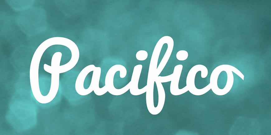 免费字体下载!一款时尚灵动的手写英文字体—Pacifico
