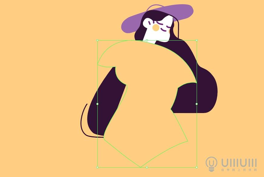 AI教程!入门必学的扁平矢量人物插画