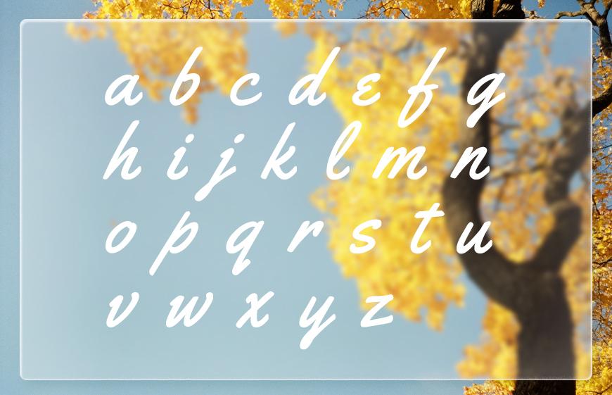 免费字体下载!一款老式风格手写质感英文字体—Yellowtail